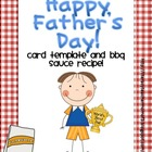 Father's Day Card and Barbecue Recipe