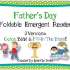 Father's Day Foldable Emergent Reader ~3 Versions: Color,
