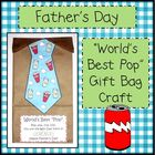 "Father's Day ""World's Best Pop"" Gift Bag Craft"