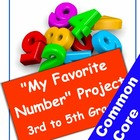 Favorite Number Project for Grades 3 to 5