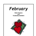 February Brain Teasers and Vocabulary Builders