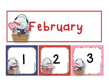 February Calendar Number Set *Freebie