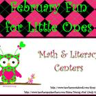 February Fun Printable Centers for Little Ones
