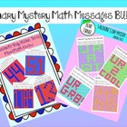 February Holiday Mystery Messages BUNDLE- Mixed Math Review