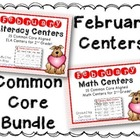 February Literacy & Math Centers Menu BUNDLE {Common Core