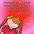 February Literacy and Math Activities and Center Ideas Com
