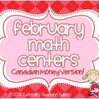 February Math Centers Canadian Money Version