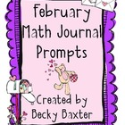 February Math Journal Prompts- Kindergarten CC