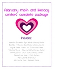 February Math and Literacy Centers Complete Set