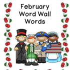 February Pocket Chart Words Word Wall