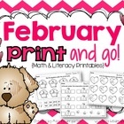 February Print and Go! {math and literacy printables}