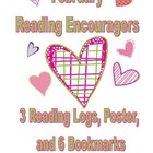 February Reading Encouragers - Reading Logs, Poster, and B