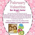 February Valentine Bar Graph Center  Freebie