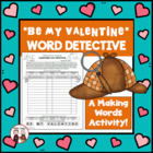 February Valentines Day Making Words Spelling Activity
