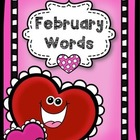 February Word Bank --VISUAL STYLE:)