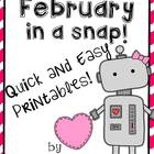 February in a Snap:  Ready to Go Printables for Common Cor