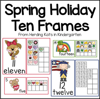 February/March Ten Frames Unit (Valentine's, President's &