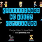 Feliz Cumpleaños Happy Birthday Certificates in Spanish