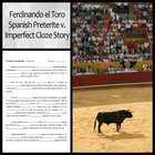 Ferdinando el Toro: Preterite and Imperfect Cloze Activity