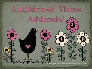 Fern Smith's Addition of Three Addends PowerPoint for Math