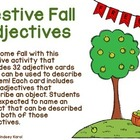 Festive Fall Adjectives FREEBIE