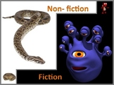 Fiction and Nonfiction Powerpoint Lesson and interactive quiz