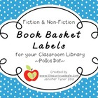 Fiction/Non-Fiction Book Basket Labels-