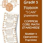 Fifth Grade Math Common Core Number and Operations Fractio