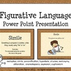 Figurative Language Power point - Definitions and Illustra