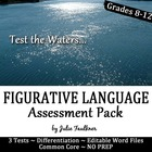 Figurative Language Testing Pack Three Levels/Types of Tes