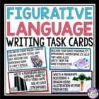 FIGURATIVE LANGUAGE WRITING TASK CARDS: Metaphor, Simile,
