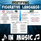 Figurative Language in Popular Songs with Answer Key