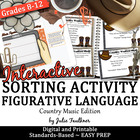 Figurative Language w/ Song Lyrics Test Prep Game - The Co