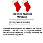 File Folder Game: Stocking Number Matching