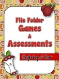 File Folder Games and Assessments - Beginning of Year