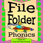 File Folder Phonics - Final X & Final Z Sounds