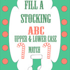 Fill a Stocking ABC upper and lower case match