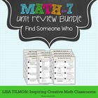 Find Someone Who (7th Grade Math) Activity Bundle