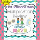Find Someone Who - Multiplication Practice - Summer Themed