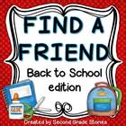 Back to School ~ Find a Friend