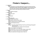 Finders Keepers Lesson Plan
