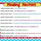 Finding Factors Freebie