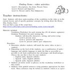 Finding Nemo-Span.-12-pg. packet-3 levels: present, past,