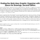 Finding the Main Idea Graphic Organizer with Space for Drawings