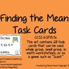 Finding the Mean Task Cards CCSS 6.SP.B.5c