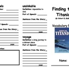 Finding the Titanic Vocabulary Fold-able