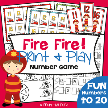 Fire Fire! Game Math Center Numeral Identification