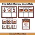 Fire Safety Memory Match Mats