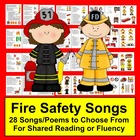 Fire Safety Poems/Songs/Finger Plays-28 Choices-Graphics f
