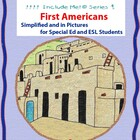 First Americans Unit in Picture for Special Ed, ESL and EL